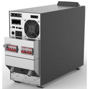 Die Modellreihe umfasst 5-10 kVA/kW USV Anlagen für KMUs.