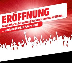 """""""MediaMarkt Seiersberg feiert nach Umbau große Eröffnung und alle Märkte feiern mit!"""", so der Wortlaut der Ankündigung."""