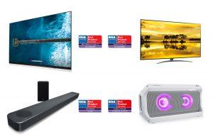 Vier TV- und Audio-Produkte von LG erhielten die höchste Auszeichnung bei den diesjährigen EISA Awards.