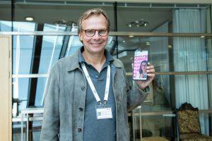 Magenta CEO Andreas Bierwirth beim ersten 5G-Videocall Österreichs.