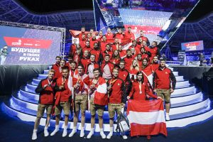 Die 46 rot-weiß-roten Teilnehmer zeigten bei den Berufsweltmeisterschaften WorldSkills in Kazan groß auf.