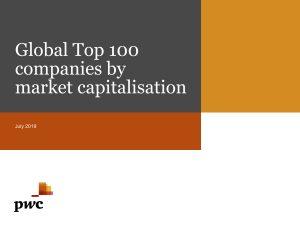 Das Ranking von PwC analysiert die 100 weltweit führenden Unternehmen nach Marktkapitalisierung. Die Analyse umfasst den Zeitraum vom 31. März 2018 und dem 31. März 2019 und vergleicht die Veränderungen in den vergangenen zehn Jahren sowie Regionen und Branchen.