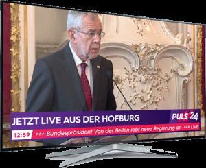"""Neu im TV und als App: """"PULS 24"""" mit Fokus auf News, Live-Events und Österreich-Content geht am Sonntag, den 1. September, on air."""