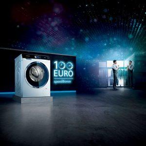 Siemens setzt auf zeitsparende Schnellprogramme bei Hausgeräten und verstärkt die Botschaft mit seinem 100 Euro speddBonus.