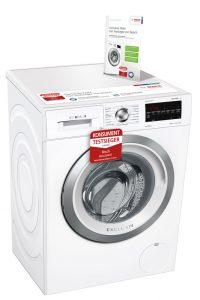 Die Cashback-Aktion wird auch durch Werbeaktivitäten unterstützt: Für die Bosch Testsieger-Waschmaschine WAG28491 gibt es z.B. eine Online- und Radio-Kampagne im November.