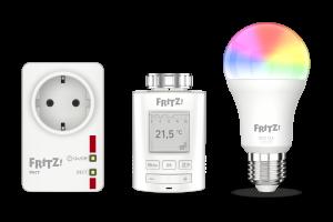 AVM bietet die am häufigsten nachgefragten Produkte für ein smartes Zuhause: Intelligente und leistungsaufzeichnende Schaltsteckdosen, Heizkörperregler und smarte Lampen.