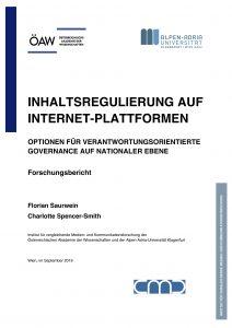 Die Studie der Österreichischen Akademie der Wissenschaften (ÖAW) und der Alpen-Adria-Universität Klagenfurt zeigt Handlungsbedarf bei der Regulierung von Online-Content auf.