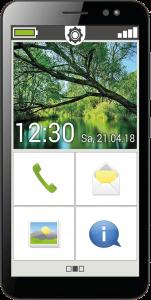 Das emporiaSmart.3mini verfügt über eine 4,95 Zoll Display, sodass man es noch leicht in der Hosen- oder Brusttasche verstauen kann.