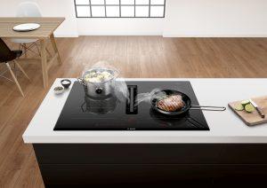 Bosch präsentiert das neue Venting Cooktop, das für absolut geruchloses Zubereiten von Speisen und für mehr Freiraum in der Küche sorgt.