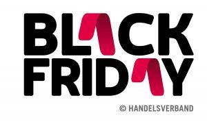 """Wie der Handelsverband betont, ist der Begriff Black Friday in Österreich als Wortmarke nicht schützbar: """"Er darf somit von jedem Händler frei verwendet werden!"""" Jenen Geschäften, die kein eigenes Werbesujet für den Black Friday entwerfen wollen, stellt der Handelsverband sein eigenes Black Friday-Logo kostenfrei zur Verfügung. (Logo: Handelsverband)"""