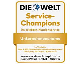 Über 1,7 Millionen Kundenurteile zu 3.530 Unternehmen und 353 Branchen liegen dem aktuellen Service Champion-Ranking zugrunde.