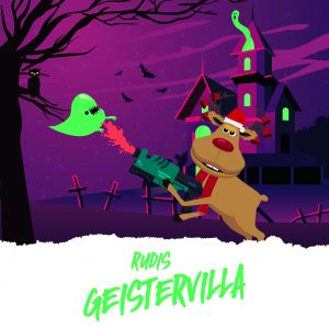 Dieses Jahr lädt assona-Maskotchen zum Weihnachtsspiel in seine Geistervilla.