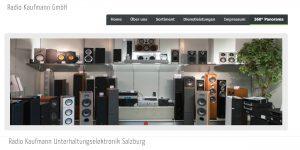 Gegen die Radio Kaufmann GmbH in Salzburg wurde ein Konkursverfahren eröffent. (Bild: Screenshot www.radiokaufmann.at)