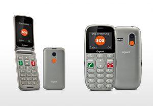 Die Seniorenhandys GL390 und GL590 der Gigaset life series sind ab sofort im Handel verfügbar.
