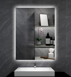 Mit Spiegeloberfläche und warmweißer LED-Hintergrundbeleuchtung: die neue Infraplate pro Mirror LED.