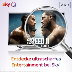 Sport- und Entertainmenthighlights in UHD