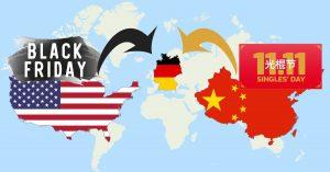 """Am 11.11.2019 ist """"Singles Day"""", Chinas Antwort auf die US-amerikanischen Rabatttage """"Black Friday"""" und """"Cyber Monday"""", die in den letzten Jahren einen weltweiten Siegeszug vollzogen haben. (Bild: Black-Friday.de)"""