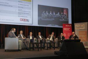 5G prägte den Inhalt vieler Vorträge – und war auch Thema einer hochkarätig besetzten Podiumsdiskussion.