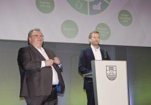 Geschäftsleiter Jörn Gellermann (li.) und Geschäftsführer Michael Hofer informierten über die aktuellen Entwicklungen und nächsten Schritte der Kooperation.