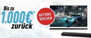 Für zahlreiche 4K Ultra HD TVs, Soundbar Systeme und Modelle der LUMIX G Serie sowie der S Serie gibts von Panasonic ab sofort bis zu 1000 Euro Geld zurück.