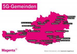 Die 5G-Gemeinden von Magenta.