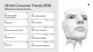 10 Hot Consumer Trends 2030 von Ericsson: Befragte Verbraucher rechnen bis 2030 mit einem Internet der Sinne, mit dem unter anderem eine neue Dienstleistungswirtschaft auf Grundlage digitaler Sinneserfahrungen möglich wird.