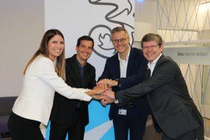 Drei steigt in den Energiemarkt ein - mit Hilfe des Anbieters easy green energy, wie heute easy green energy-GF Marion Paschinger und Jean-Brice Piquet-Gauthier, sowie Drei CEO Jan Trionow und Drei CCO Rudolf Schrefl bekannt gegeben haben.