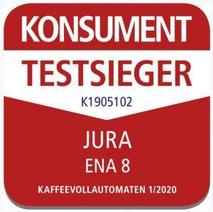 Die Jura ENA 8 konnte im Konsument-Test die höchste Punktzahl erzielen.