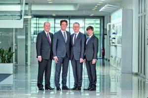 Die aktuelle Geschäftsführung von Phoenix Contact (v.l.n.r.): Frank Stührenberg (CEO), Axel Wachholz (CFO), Roland Bent (CTO/Technik) und Gunther Olesch (CHRO/ Personal).