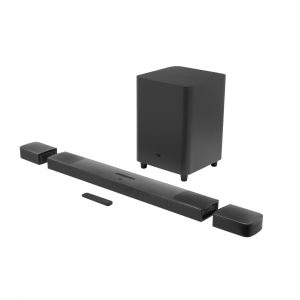 Die neue Soundbar JBL BAR 9.1 True Wireless Sourround Sound setzt Maßstäbe in Sachen Home Audio und garantiert ultimatives Kino-Feeling mit Dolby Atmos.