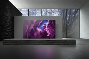 Eines der neuen TV-Highlights von Sony in Las Vegas ist die OLED TV-Serie A8.