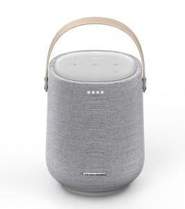 Zuwachs für die Citation Home-Audio-Serie I: Der tragbare Lautsprecher Harman Kardon Citation 200 mit Ladestation, IPX4-Spritzschutz und integriertem Akku mit 8 Stunden Wiedergabezeit.