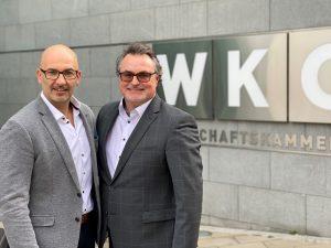 Stv. Oliver Ferner-Prantner (li.) und Alexander Rupp, Vorsitzender des FA Elektroinstallationstechnik, wollen nach 10 Jahren die Staffel an ein neues Team übergeben.