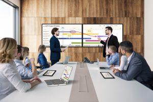 Für noch größere Arbeitsbereiche lassen sich zwei DuoBoards miteinander verbinden.