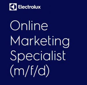 Electrolux sucht einen Online Marketing Specialist (m/f/d) in Brunn am Gebirge (Nahe Wien).
