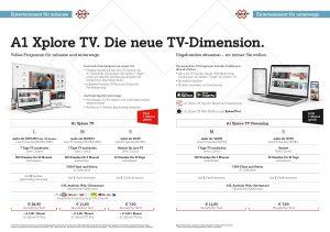 Der Einstieg in die A1 Xplore TV-Welt ist ab 7,90/Monat möglich.