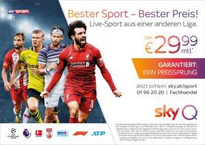 Bester Sport kombiniert mit bestem Angebot steht im Zentrum der neuen Kampagne von Sky.