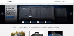 Die neue Webseite von AGFEO soll die Fachhandelspartner auch im Vertrieb unterstützen.