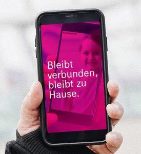 #bleibtzuhause - mit diesem Hashtag als Netzkennung will Magenta die Krisenmaßnahmen der Bundesregierung unterstützen.