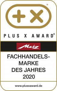 """Die Sonderauszeichnung """"Fachhandelsmarke des Jahres"""" des Plus X Award wurde – wie bereits im Vorjahr – erneut an die Marke Metz Classic vergeben."""