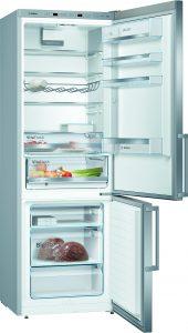 Ebenfalls 100 Euro Technik-Bonus liefert der XXL-Kühlschrank KGE49EI4P der Serie 4 von Bosch.