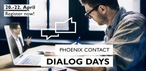 Mit den Dialog Days bietet Phoenix Contact Produktpräsentationen und Expertengespräche über eine Online-Plattform.