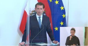 Bundeskanzler Sebastian Kurz verkündete heute ein stufenweises Öffnen des Handels für die Zeit nach Ostern.