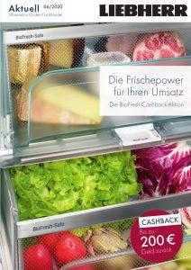 """Unter dem Titel """"Marktfrische für zu Hause"""" bietet Liebherr von 1. Juni bis 31. Juli bis zu 200 Euro Cashback auf ausgewählte Kühl- und Kühl/Gefrierschränke."""
