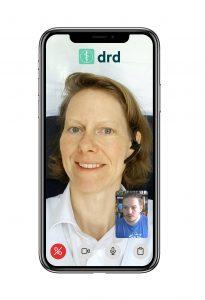 Die erfahrenen Wahl-Hausärzte von drd, wie hier z.B. Mag. Dr. Iris Weinberger, sind von Montag bis Freitag von 9 bis 17 Uhr für Videokommunikation verfügbar.