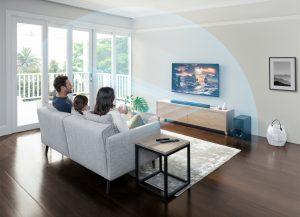 Dank Vertical Surround Engine Technologie und fortschrittlicher Signalverarbeitung von Sony ordnen die drei Frontlautsprecher der HT-G700 Soundbar die Klangsignale so an, dass Zuhörer sowohl horizontal wie vertikal in Sound eingehüllt werden.