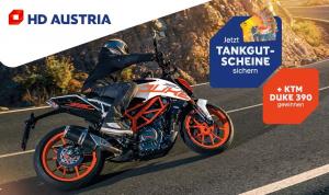 HD Austria hat für die Händler wieder eine höchst attraktive Verkaufs-Aktion zusammengestellt: Neben Provisionen und Tankgutscheinen winkt auch eine KTM Duke 390.