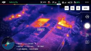 Der vielseitige Multicopter ermöglich zB die Überwachung und Messung von Temperaturen an einer bestimmten Stelle.