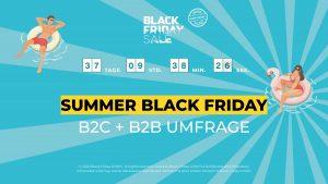 """Von 30. Juli bis 5. August 2020 findet erstmals der """"Sommer Black Friday"""" statt. (Bild: Black Friday GmbH)"""
