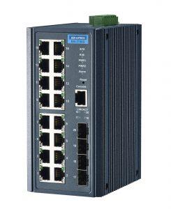 PoE Gigabit Netzwerkswitches von Advantech bieten Sicherheit auch bei rauen Umgebungs- und Wetterbedingungen.